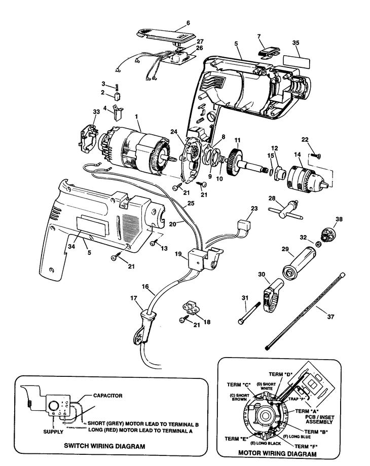 dewalt planer wiring diagram dw718 wiring diagram wiring piese black u0026  decker pagina 15